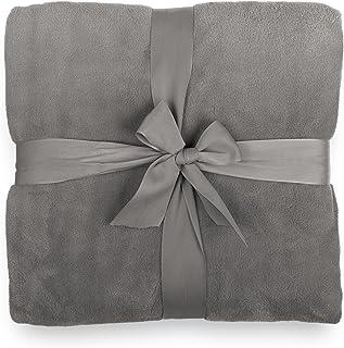 comprar comparacion Lumaland Manta Suave Forro Polar Caliente para acurrucarse 100% Microfibra 220 x 240 cm Gris