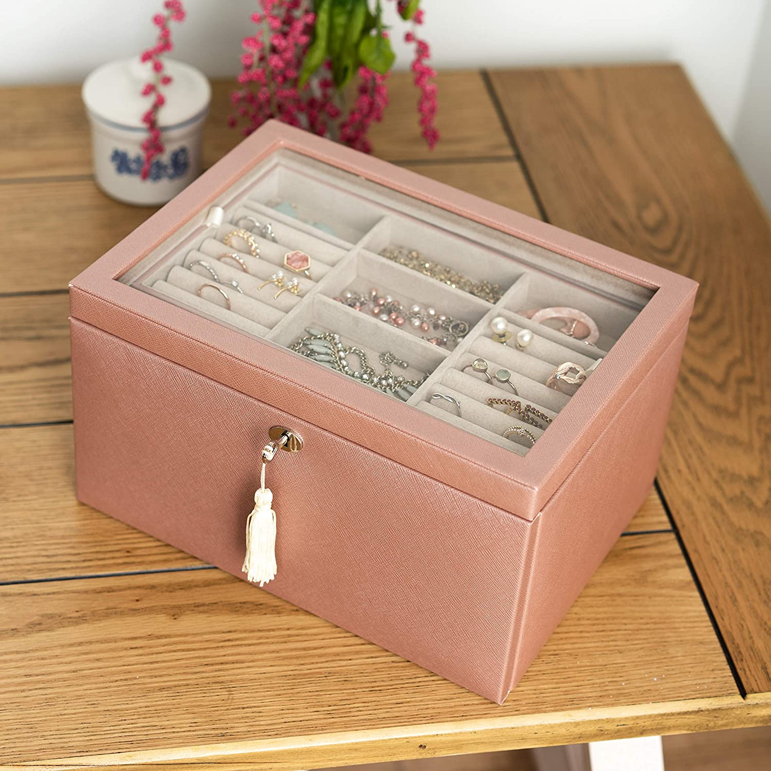 Hives and Honey Emily Luxe Chest Blush Jewelry Storage 新作製品、世界最高品質人気! 往復送料無料