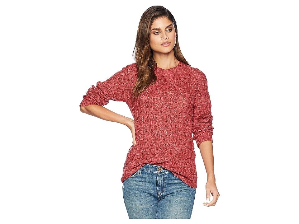 kensie Punk Yarn Sweater KS0K5828 (Burnt Rose) Women