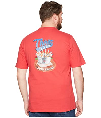 Tommy Bahama Big & Tall Big Tall Thirst Base Tee (Lucky Red) Men