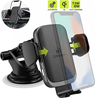 ZeeHoo Wireless Car Charger Mount, Auto-Clamp 7.5W/10W Qi Fast Charging, Air Vent Wireless Charger Holder Compatible iPhone Xs/Xs Max/XR/X/8/8 Plus, Samsung Galaxy S10/S10+/S9/S9+/S8/S8+/S7
