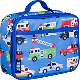 Wildkin Lunch Box, Insulated, Moisture Resistant, and Easy to Clean with Helpful Extras for Quick and Simple Organization, Ages 3 plus, Perfect for Kids or On The Go Parents, Olive Kids Design, Heroes