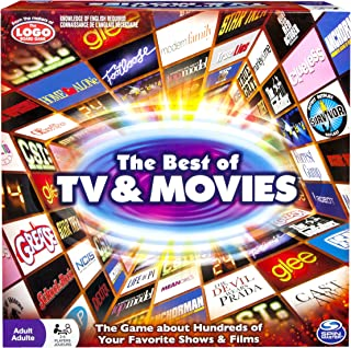 Spin Master Games: Best of TV and Movies Board Game - Test Your Knowledge of 100 s of TV Shows and Movies - 2-6 Players - ...