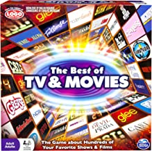 Spin Master Games: Best of TV and Movies Board Game - Test Your Knowledge of 100's of TV Shows and Movies - 2-6 Players - Includes Over 400 Cards - Hours of Family Friendly Entertainment