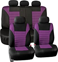 FH Group FB068PURPLE115 Purple Universal Car Seat Cover (Premium 3D Air mesh Design Airbag and Rear Split Bench Compatible)