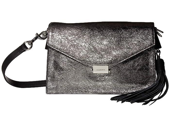 AllSaints  Miki Leather Crossbody (Gunsmoke Grey) Handbags