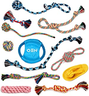 OEN 12 Piece Dog Toys Cotton Rope for Aggressive Chewers