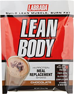 Labrada Nutrition Lean Body Hi-Protein Meal Replacement Shake, Chocolate Ice Cream, 2.78-Ounce Packets, 20-Count