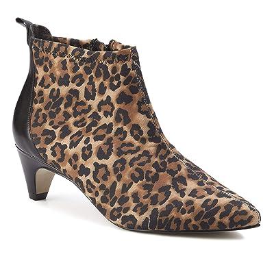 Walking Cradles Billie (Leopard Stretch Fabric/Black Cashmere) Women
