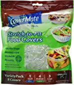 CoverMate Stretch To Fit 8 Reusable Food Covers (Pack of 6)