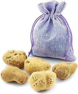 Esponja Menstrual – Juego de 5 en una bolsa de yute – Alternativa ecológica a los tampones – Esponjas Naturales extra suaves & sin blanquear