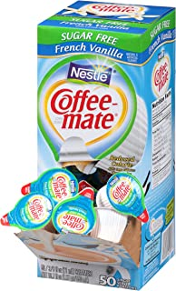 Coffee Mate Coffee Creamer, Sugar Free French Vanilla, 0.375oz liquid creamer singles, 50-count