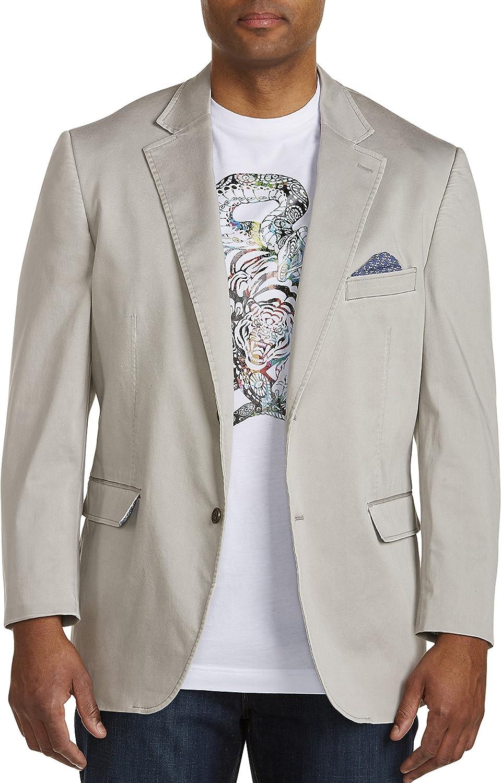 Oak Hill by DXL Big and Tall Stretch Cotton Sport Coat