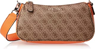 Guess Womens Handbag, Orange Multi - SK669120