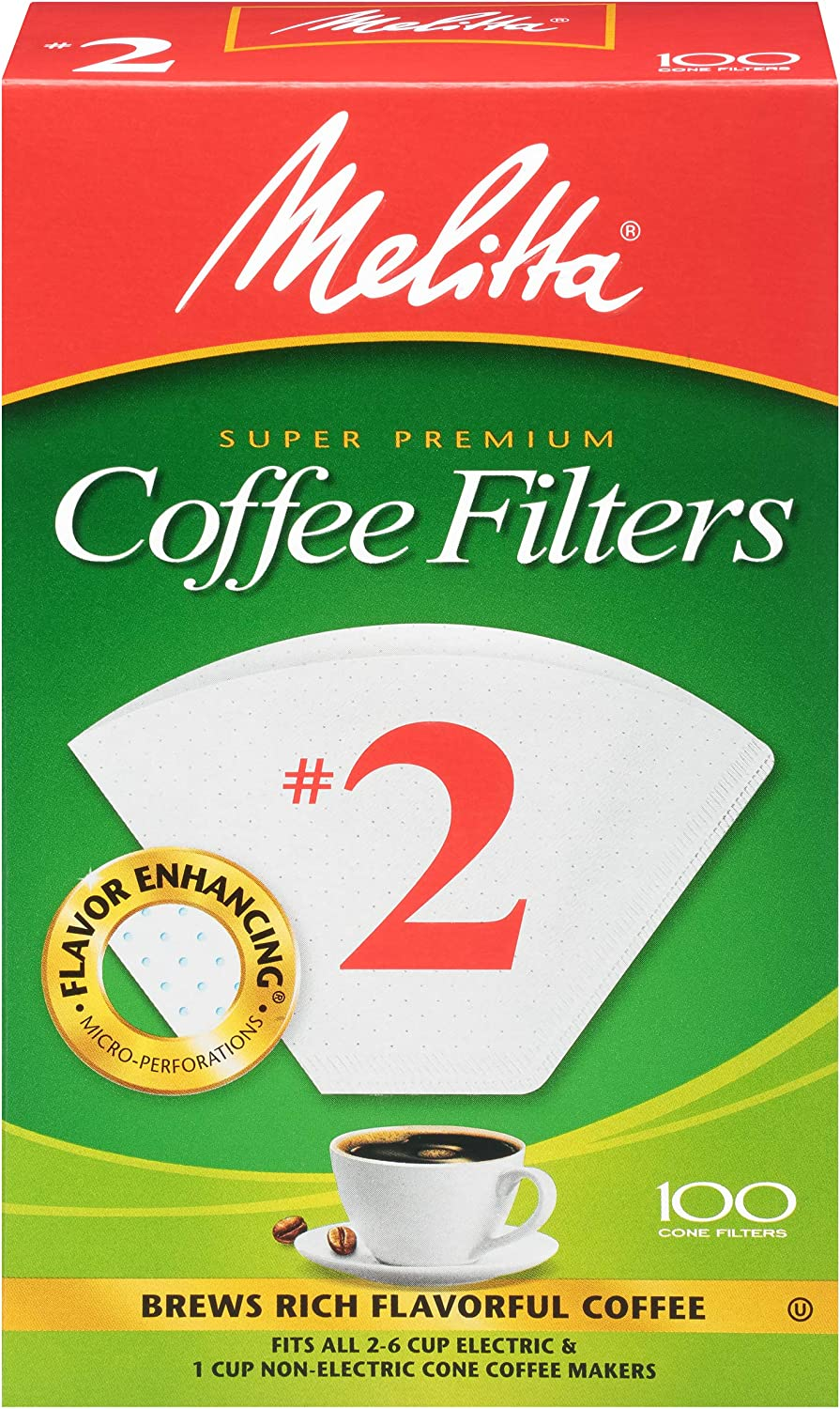 Melitta #2 Super Premium Cone Today's only Filters White outlet Count 100 Coffee
