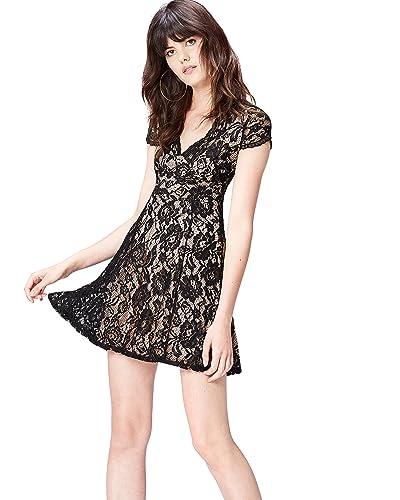cheaper 369c6 84b44 Abito Donna Pizzo Nero: Amazon.it