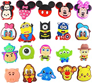 20pcs Shoes Charms for Shoes with Holes & Bracelet Wristband Kids Party Birthday Gifts, Cute Decoration for Shoes, Great Present for Kids Treasure Box Toys, Cute Decoration, Christmas Gift for Kids
