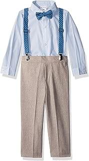 Van Heusen Baby-Boys 36V1K0006-261-P6 Four Piece Suspender Set Suit - Beige