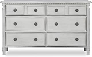 Evolur Julienne 6 Double Dresser, Antique Grey Mist