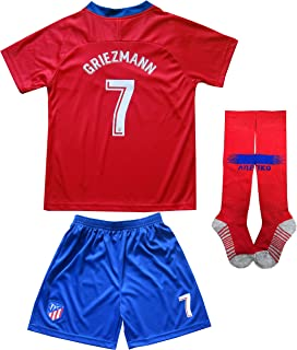 65c090861 2018 2019 Atletico Madrid  7 Antoine GRIEZMANN Home Football Futbol Soccer  Kids Jersey Shorts