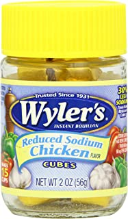 Wyler's Instant Chicken Bouillon Cubes (2 oz Jars, Pack of 8)