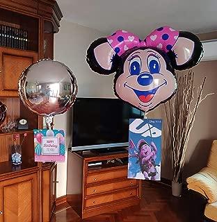 Peso equilibrador para tus globos helio + 4 globos. FLOTAN sin subir ni bajar, es ESPECTACULAR. Cuélgales las fotos que imprimas. Fiesta cumpleaños, decoración bodas, eventos, comuniones, publicidad.