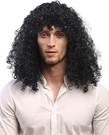 Schwarze lange haare locken