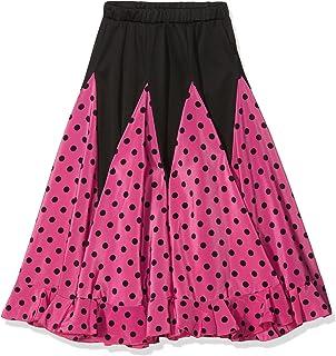ee70c1204f2 La Señorita Jupe Flamenco enfant rose a pois noir