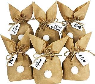 Papierdrachen 12 zajączków wielkanocnych do samodzielnego wykonania i napełniania – kreatywny prezent na Wielkanoc z 12 to...
