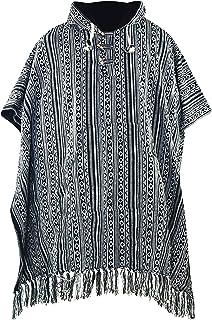 virblatt Mexican Poncho | 100% Cotton | Blanket Poncho Men | Reversible | Mens Poncho Sweater Baja Hoodie Drug Rug