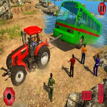 Chained Tractor Towing Rescue game