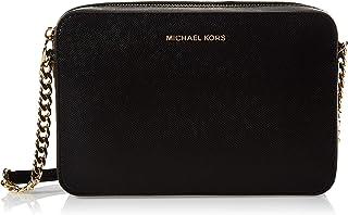 Michael Kors Raven Large Leather Shoulder Bag-Black