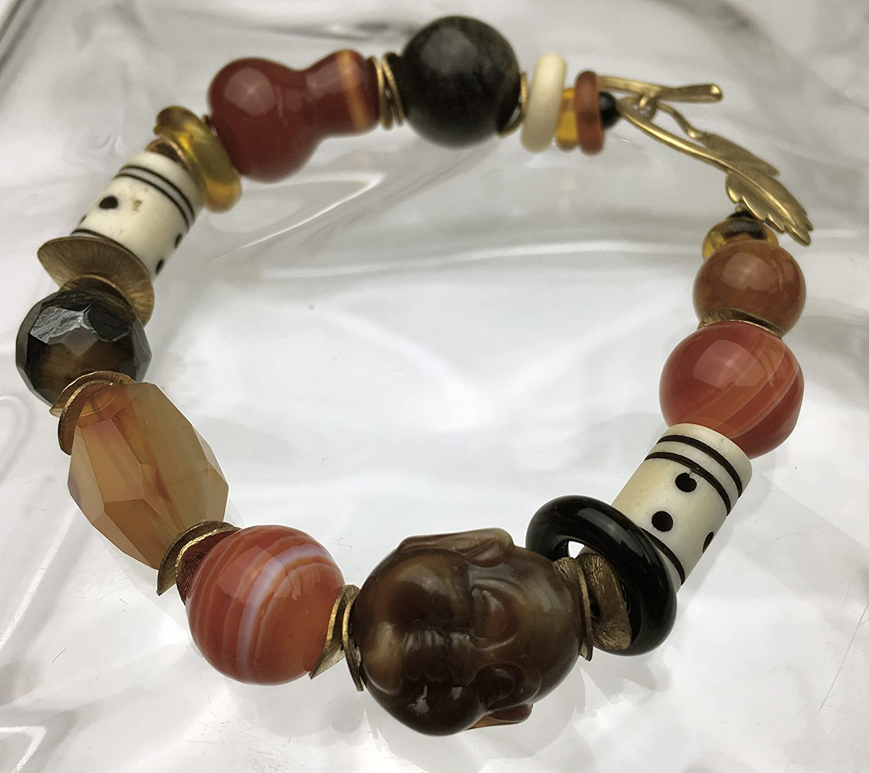 Treasure Bracelet with Year-end annual account a Buddha bead agate Washington Mall carnelian bone and