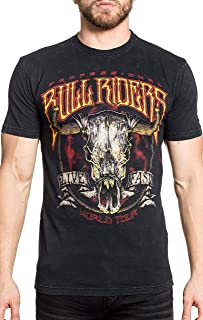 PBR Professional Bull Riders Night Ride Short Sleeve Casual Graphic Fashion T-shirt For Men