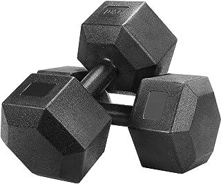 comprar comparacion Yaheetech Un Set de 2 Piezas Mancuernas de Ejercicio Mancuerna para Gimnasio Fitness Negra