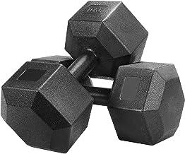 Yaheetech korte halters set van 2 hexagon halters met rubber 10 kg krachttraining haltertraining voor gymnastiek en fitness