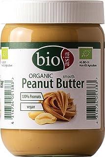 BIOASIA Bio Erdnussbutter – Peanut Butter - aus 100% gerösteten Erdnusskernen, cremig, ohne Zusätze, im Glas, vegan und gl...