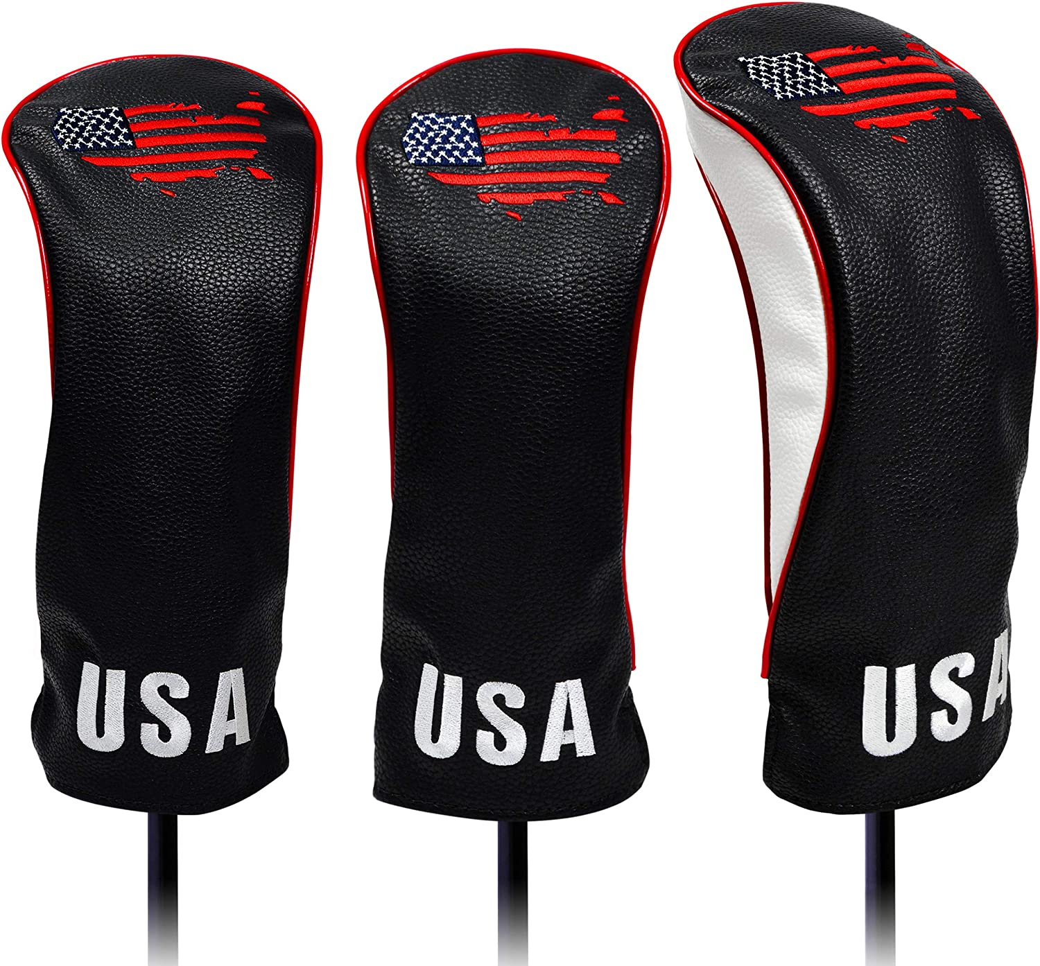 USA Golf 定価の67%OFF Head Covers 出群 for Driver Leathe Woods Premium Fairway -