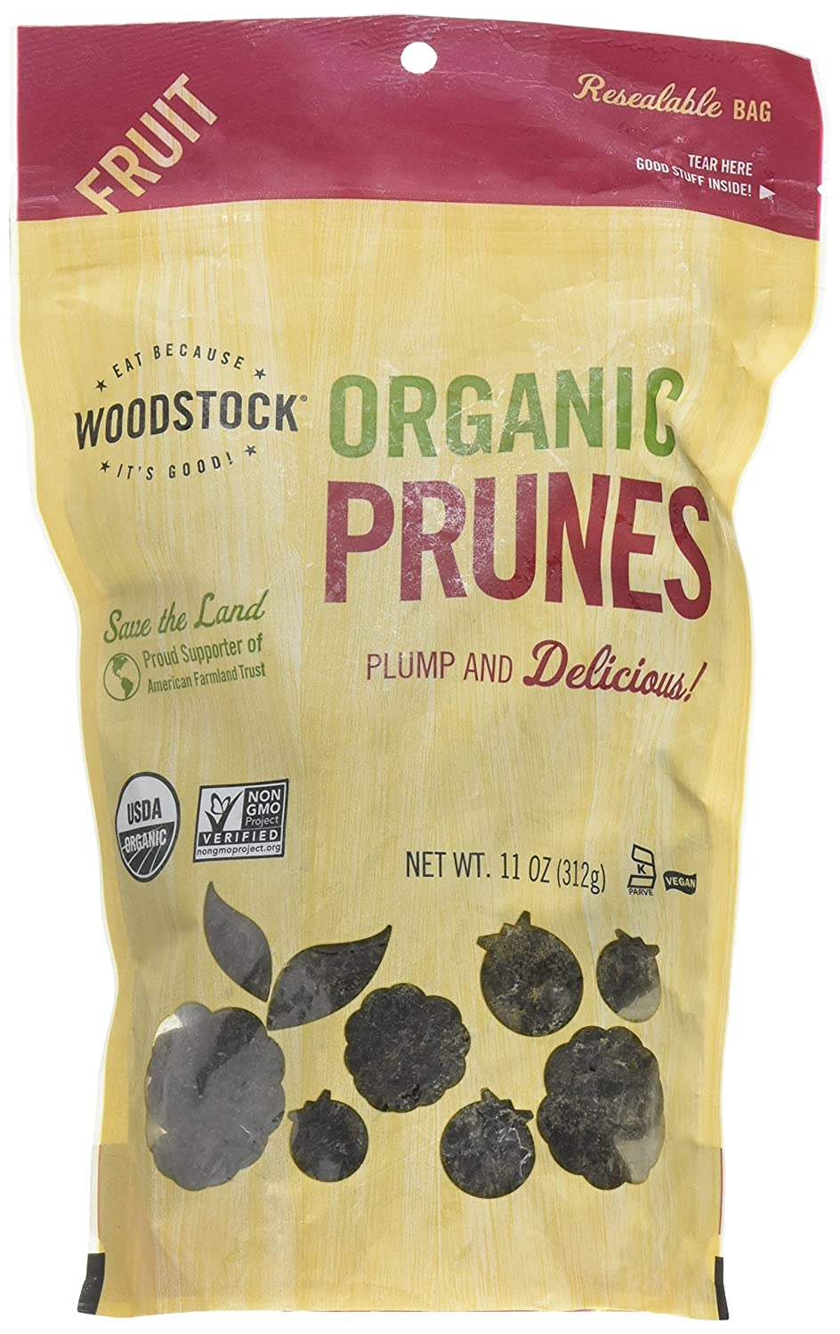 Woodstock Prunes Organic California of Pack 11-Ounce Pitted New arrival Max 65% OFF