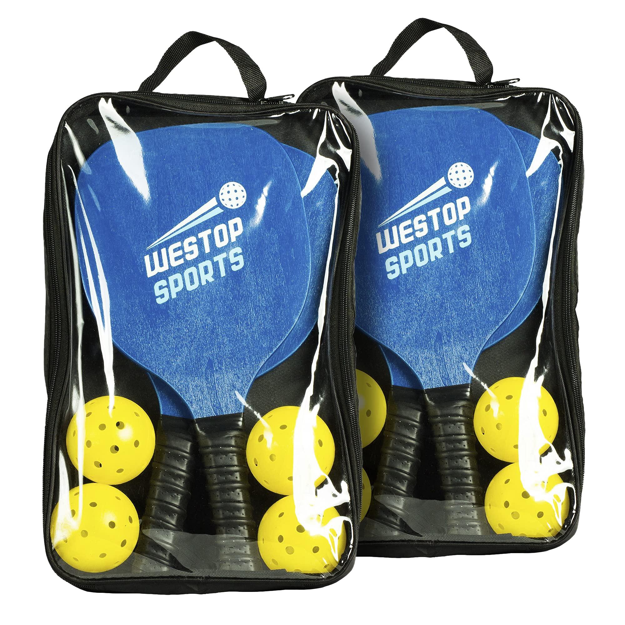 Westop Sports Premium Indoor/Outdoor Pickleball Set Bundle w