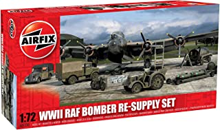 Airfix 1:72 WWII Bomber Re-Supply Dioramas and Buildings Model Set, Multi Colour, A05330