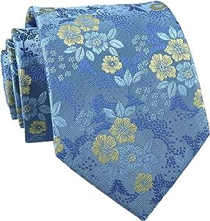 Secdtie Men's Silk Tie Cravat Jacquard Luxury Floral Pattern Wedding Necktie