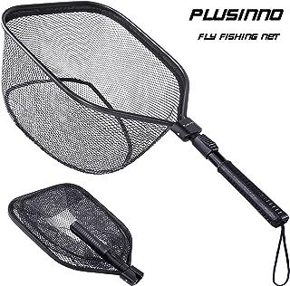 PLUSINNO Fly Fishing Net, Bass Trout Landing Net, Folding...