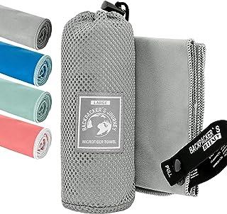 Backpacker's Journey Mikrofaser Handtücher in S M L XL. Reisehandtuch Sets leicht,..