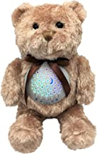 Baby Sleep Soother Sound Machine   JWK Teddy Bear   Portable Stuffed Animal Star Projector with 10 Calming Lullaby, Gentle Bird Song, Heartbeat Shusher