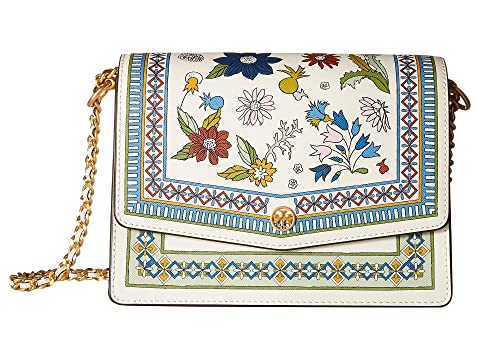 Tory Burch Robinson Floral Shoulder Bag Ivory Meadow Folly Cheap Real Authentic Sale Purchase Cheapest Clearance Collections Cheap Sale Best Seller LmyC93