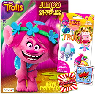 Trolls Coloring Book With Stickers Set - 96 Pg Coloring Activity Book and Trolls Stickers Bundled With 2 Separately Licens...