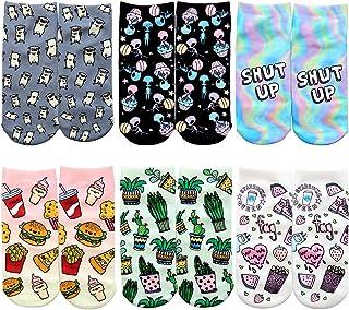 6 par Calcetines de Algodón Cálido Dibujo Animado Encantador Dulce Calcetines para Mujeres Chicas Muchachas