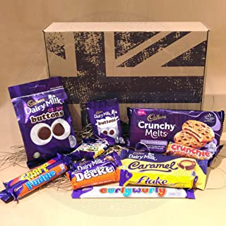 The British Favourite Cadbury Chocolate Collection Gift Box – Best Selling Cadbury Chocolate in the UK – Cadbury Dairy Milk, Giant Buttons, Chomp, Fudge, Double Decker, Freddo Original and Caramcolate