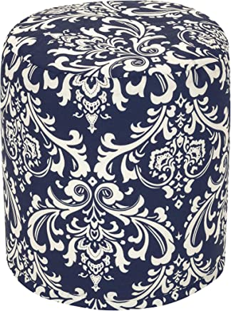 featured product Majestic Home Goods Navy Blue French Quarter Indoor/Outdoor Bean Bag Ottoman Pouf 16 L x 16 W x 17 H